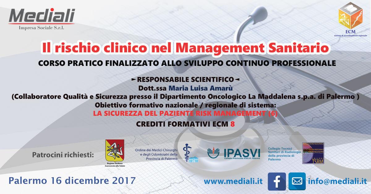 Il rischio clinico nel Management Sanitario