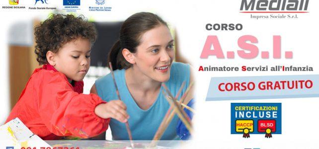 Corso ASI Animatore servizi all'infanzia 2018 Gratuito - Mediali.it
