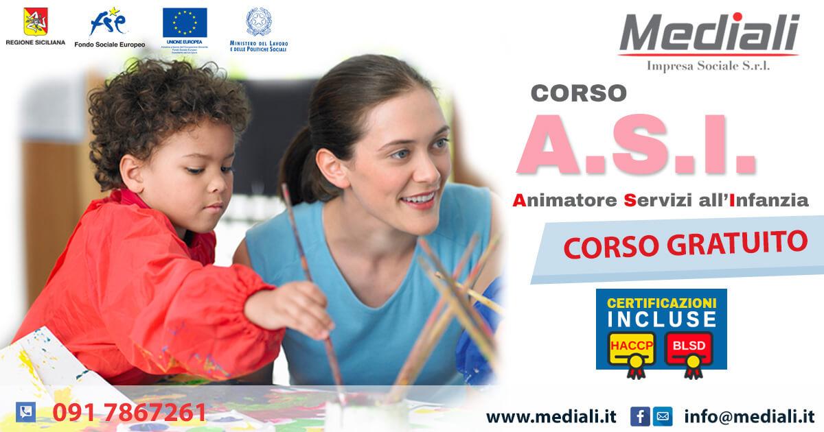 Corso per ASI Animatore servizi all'infanzia 2018 Gratuito - Mediali.it