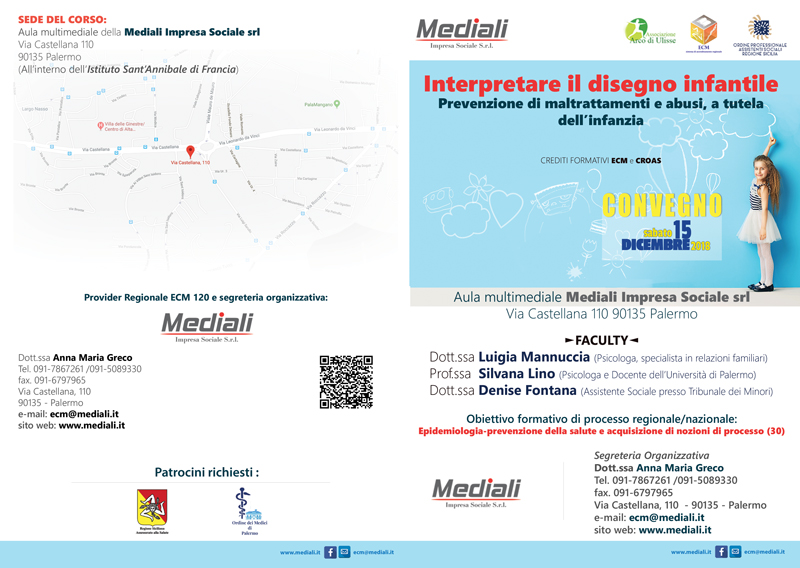 Brochure Convegno Interpretare il disegno infantile - Mediali - Palermo 15 dicembre 2018