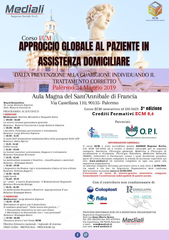 ECM Approccio globale al paziente in assistenza domiciliare 3° Edizione M;ediali.it