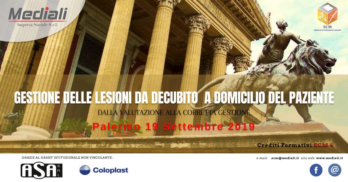 Evento ECM 19 settembre 2019  Gestione delle lesioni da decubito a domicilio del paziente - Mediali.it